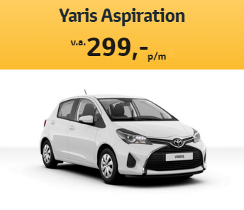toyota yaris private lease driessen toyota. Black Bedroom Furniture Sets. Home Design Ideas